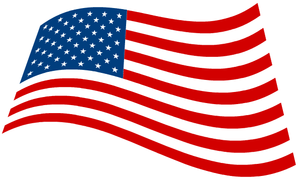 American flag clipart black and white free 2