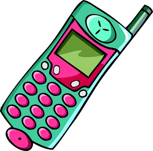 Animated mobile phone clip art 2