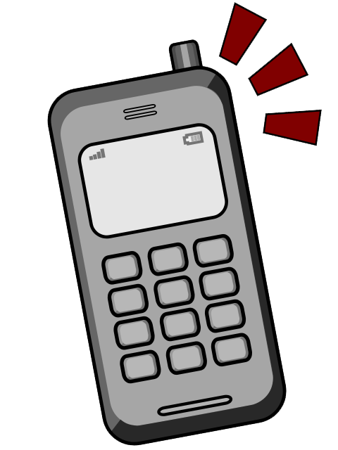 Animated mobile phone clip art