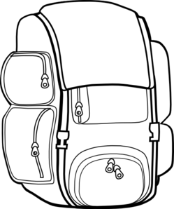 Backpack clipart black and white free clipart images 2