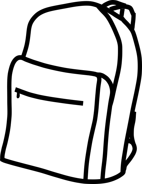 Backpack clipart black and white free clipart images