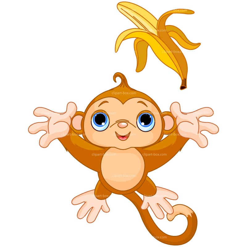 Banana monkey clip art dromggl top