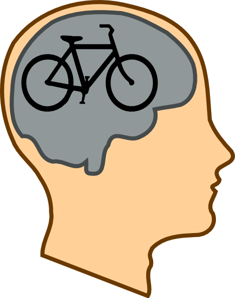 Biking on the brain clip art at clker vector clip art