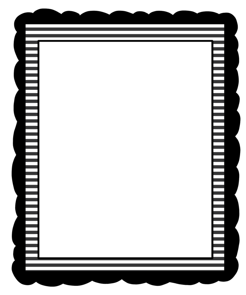 Black and white borders clipart