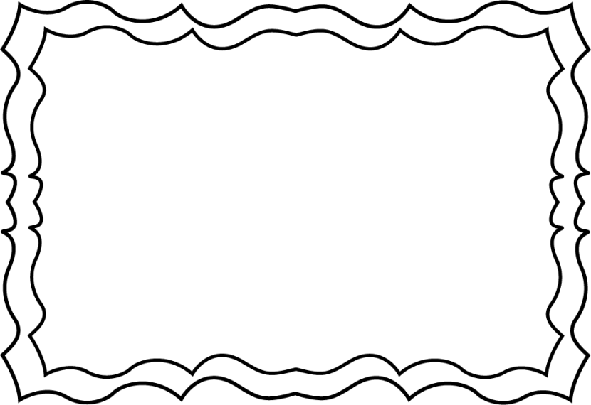 Black and white borders cliparts