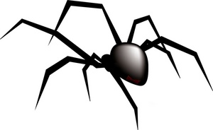 Black widow spider clipart image creepy black widow spider on a