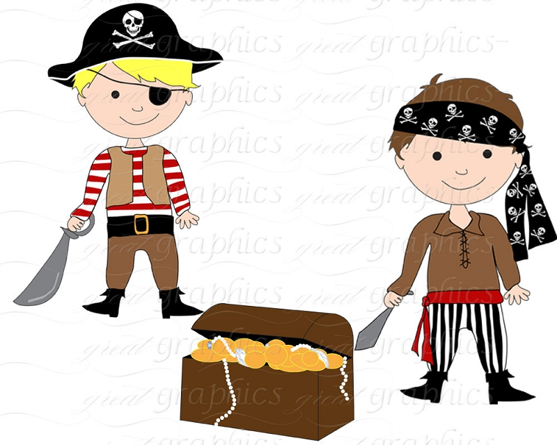Boy pirate clipart