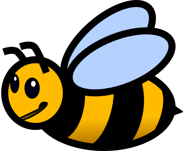 Bumble bee black and white bee clip art at vector clip art