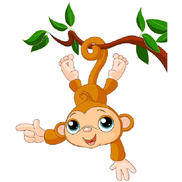 Monkey Cartoon Baby Free Monkey Clip Art P...