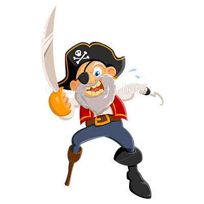 Clip art of pirate dromfgo top