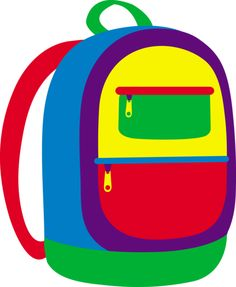 Clip art on kangaroos school backpacks and backpacks 2