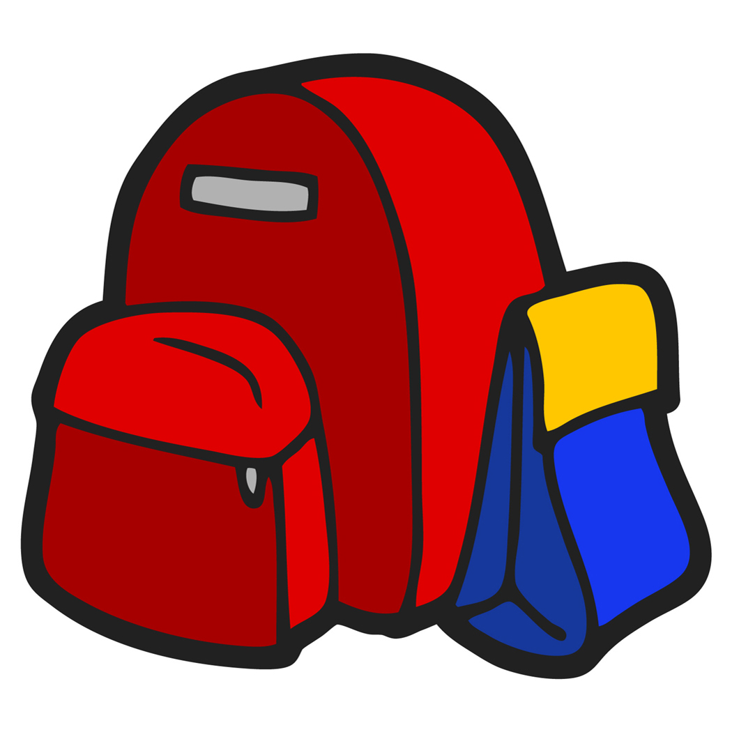 Coat and backpack clipart