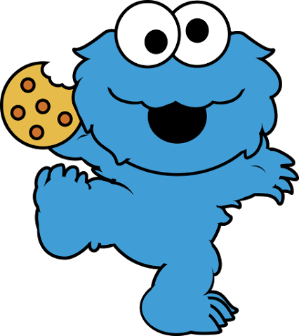 Cookie monster clip art 1
