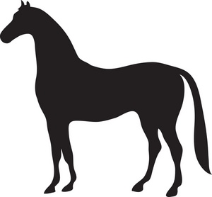 Dancing horse clip art at vector clip art