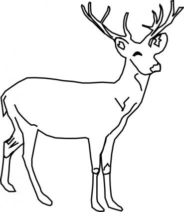 Deer clip art free vector in open office drawing svg svg
