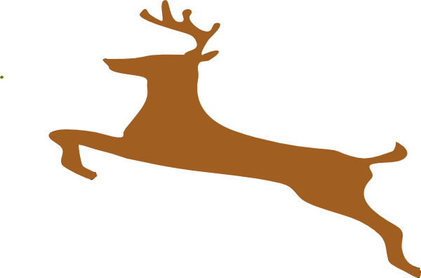 Deer vector art clipart 2 clipartcow