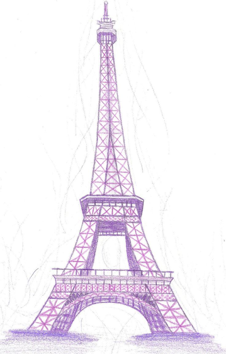 Eiffel tower clip art eiffel tower in purple by doncamatica