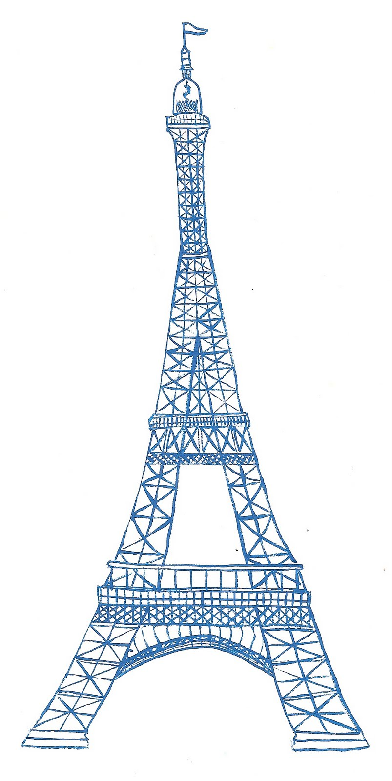 Eiffel tower drawing simple clipart clipart
