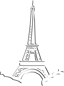 Eiffel tower triple layer clip art at clker com vector clip art