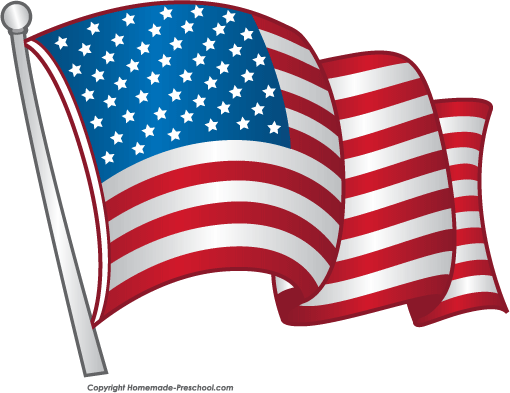 Free american flags clipart 3