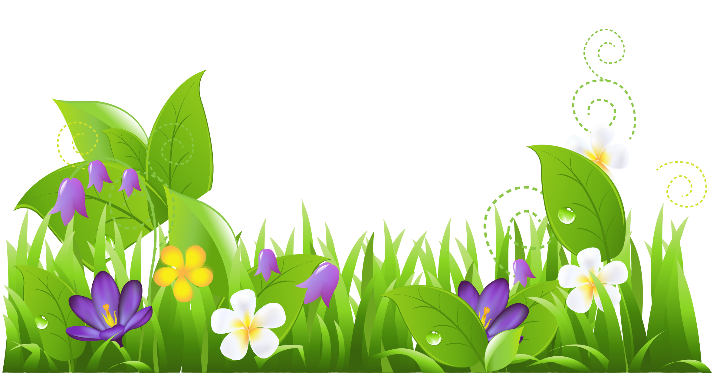 Grass and flowers clipart clipart clipart image