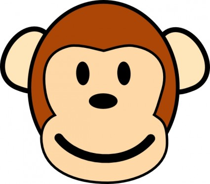 Happy monkey clip art free vector in open office drawing svg