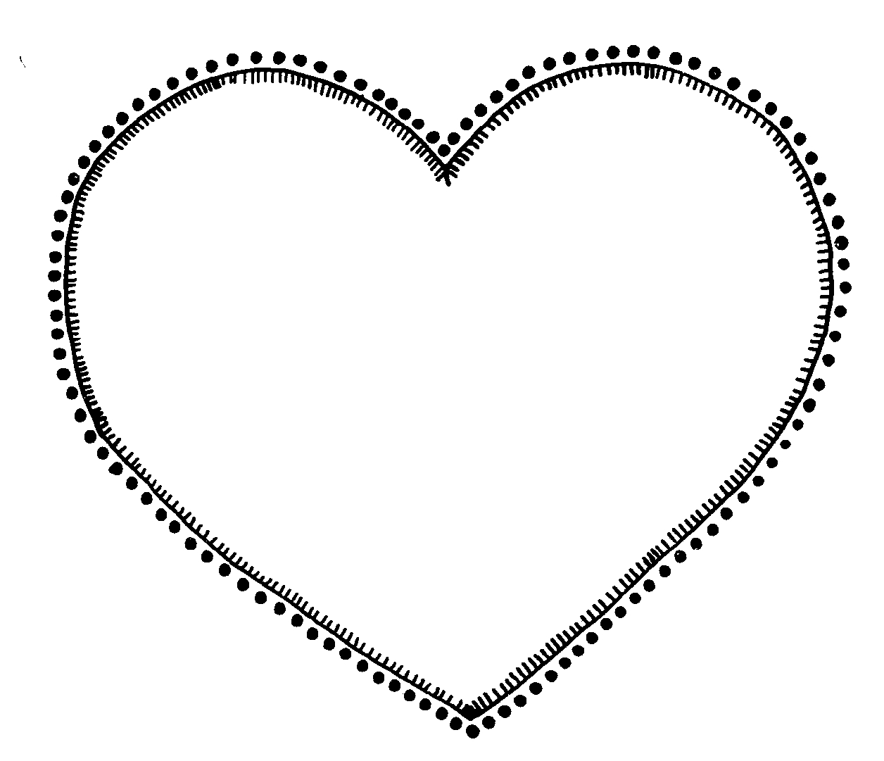 Hearts clipart heart black and white free clipart images