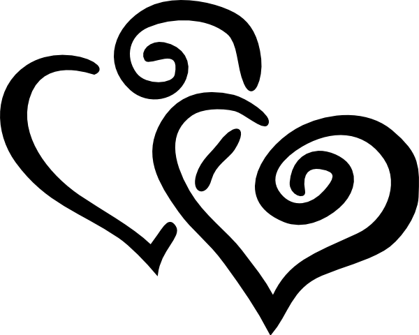 Hearts heart clipart black and white 3 2