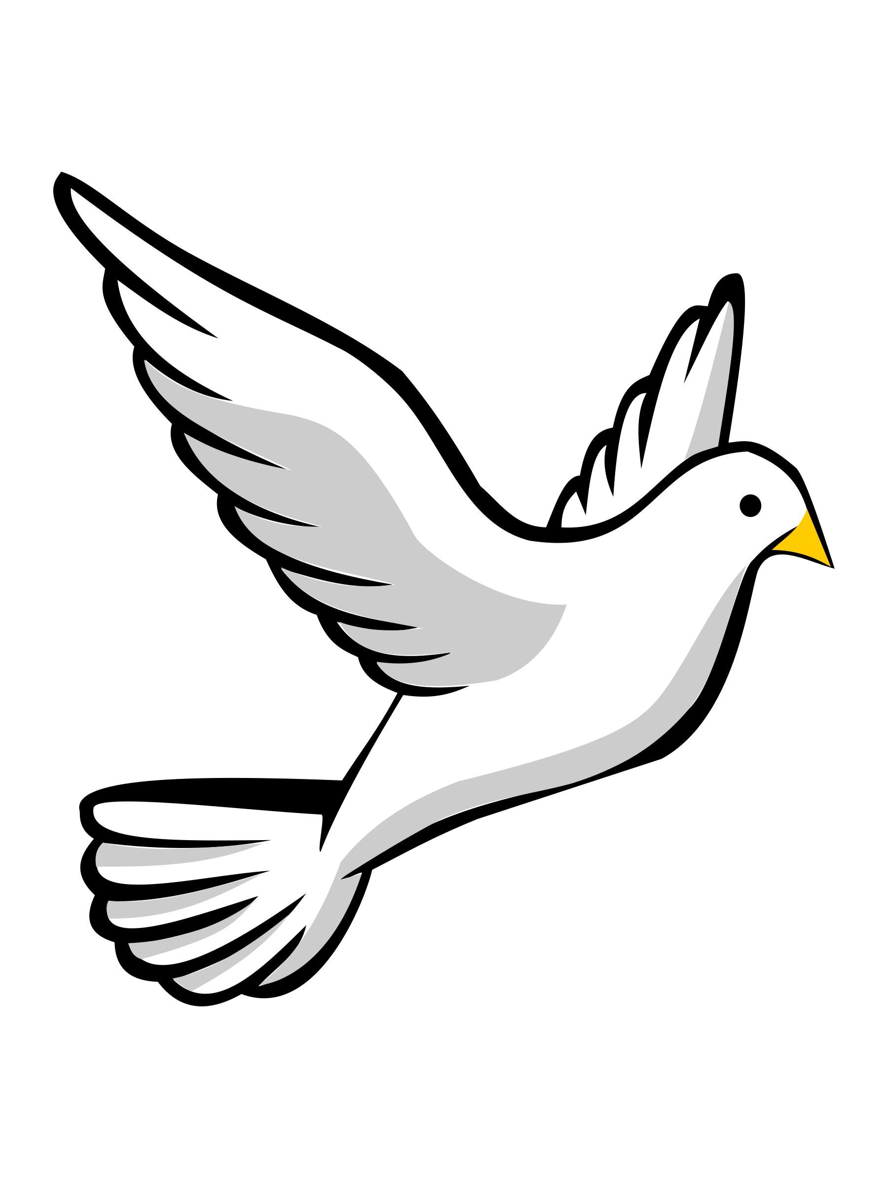 Holy spirit dove clipart black and white free 2