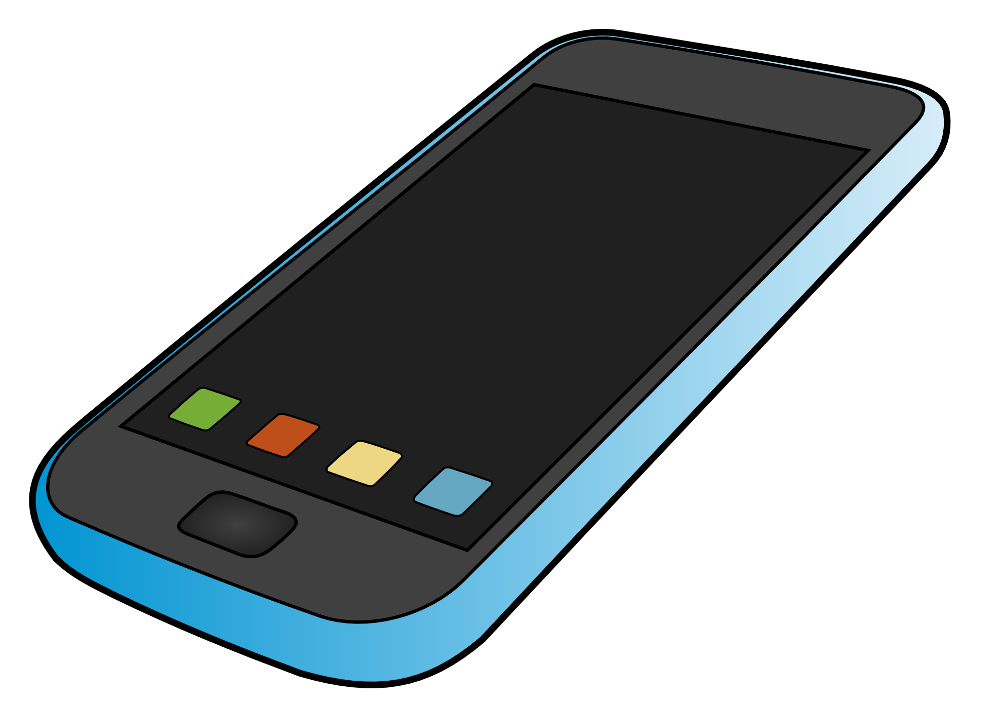 Iphone cell phone clipart free clipart images 2
