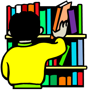 Library bookshelf clipart free clipart images