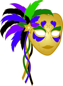 Mardi gras on mardi gras masks new orleans and mardi clipart 2