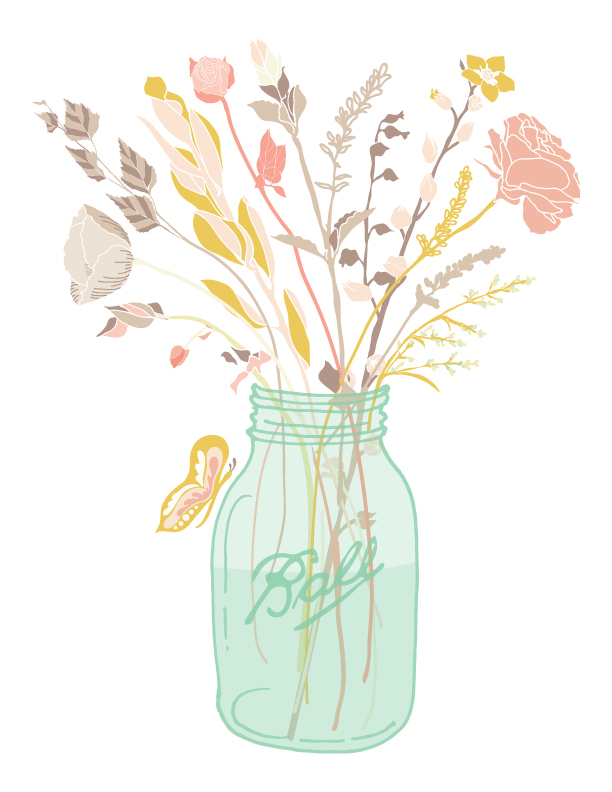 Mason jars on ball jars masons and ball mason jars clip art
