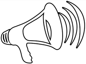 Megaphone clip art black and white free clipart clipartcow