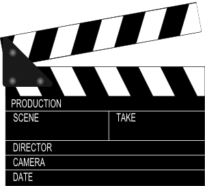 Movie clapper board clip art at clker vector clip art