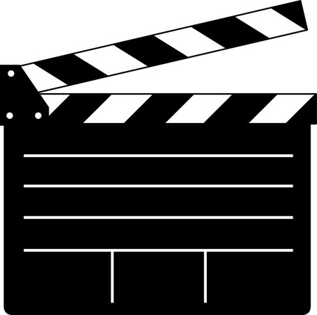 Movie flap clip art vector movie flap graphics clipart me