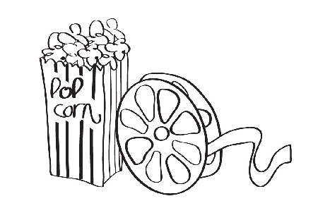 Movie night clip art 4
