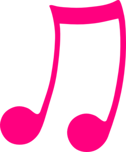 Music note pink musical note clip art at clker vector clip art