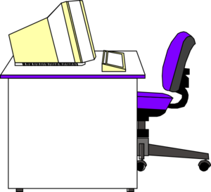 Office desk white clip art at clker vector clip art