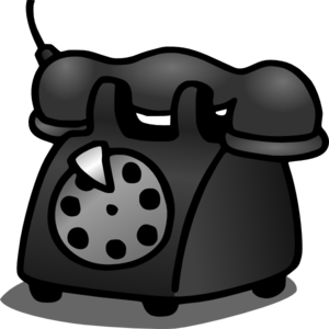 Old telephone clip art at vector clip art