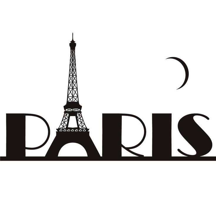 Paris eiffel tower france wall art sticker wall decal transfers clipart