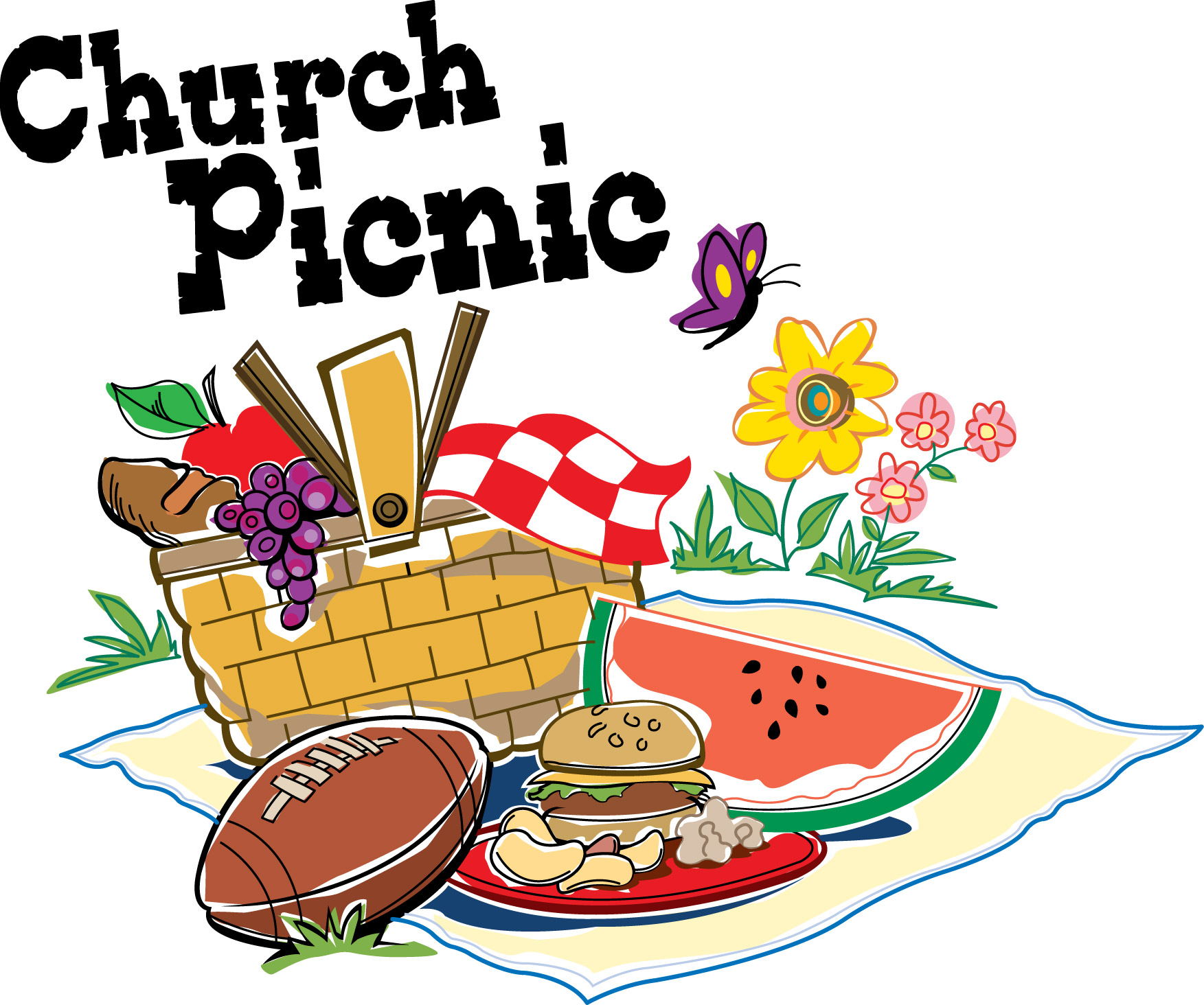 Picnic clip art black and white free clipart images 2