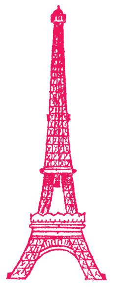 Pink eiffel tower clip art cwemi images gallery