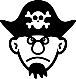Pirate clipart and animations