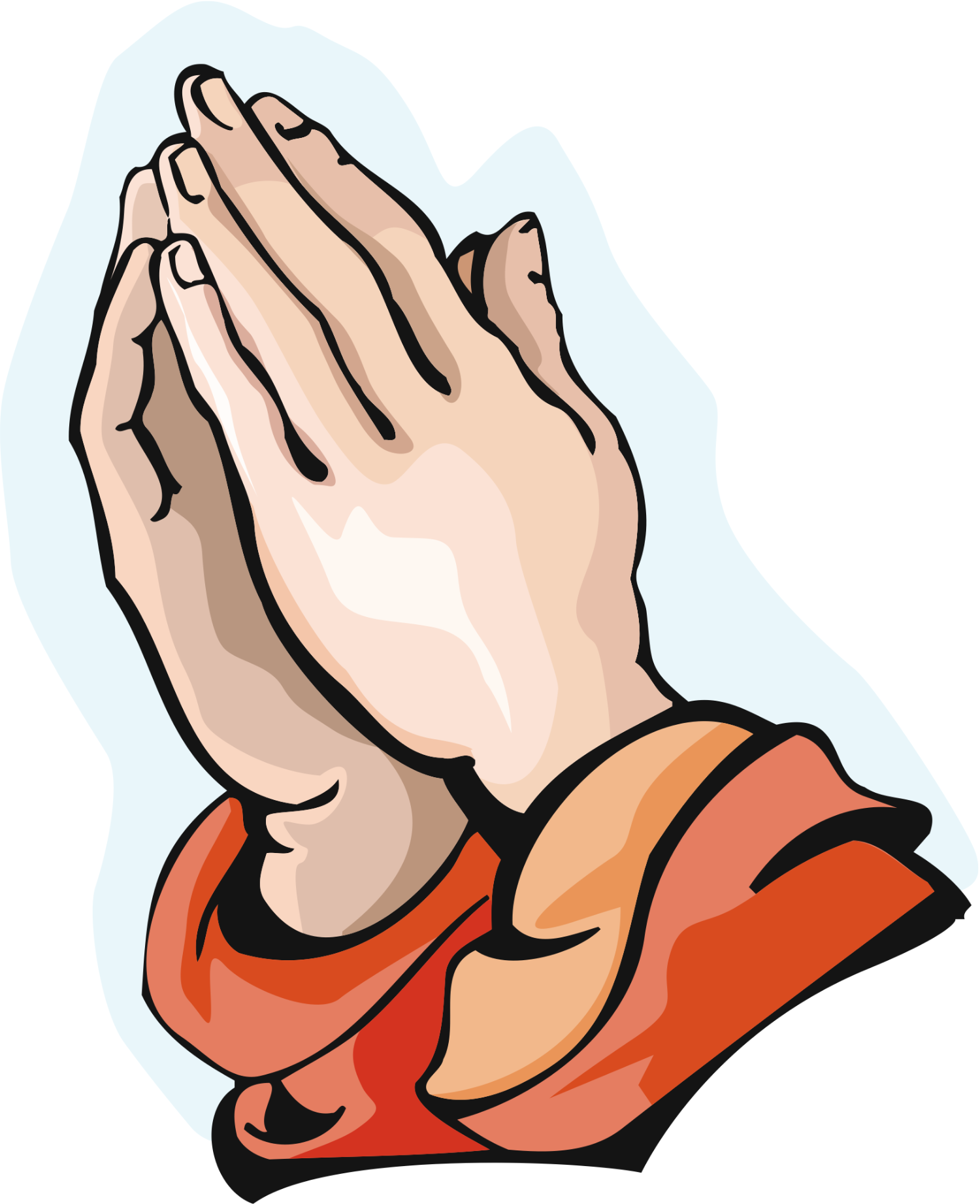 Praying hands 1 free clip art image 2