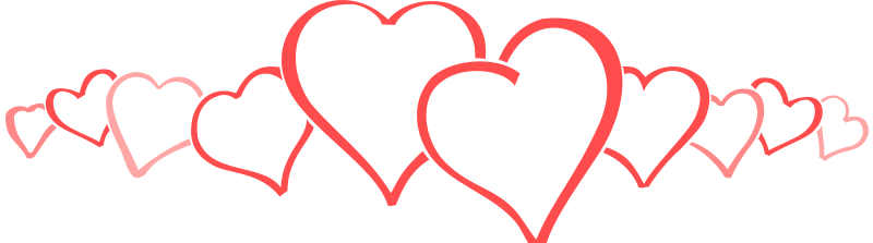 Row of hearts clipart