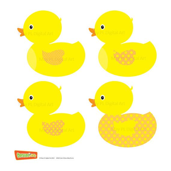 Rubber duck clip art ducky duckie baby shower yellow baby duck