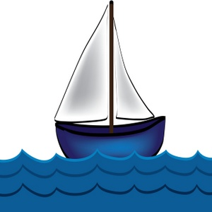 Sailboat boat drawing clip art