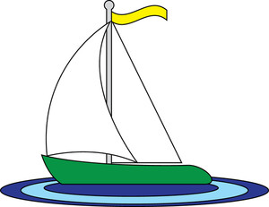 Sailboat clipart image clip art image of a toy sailboat floating
