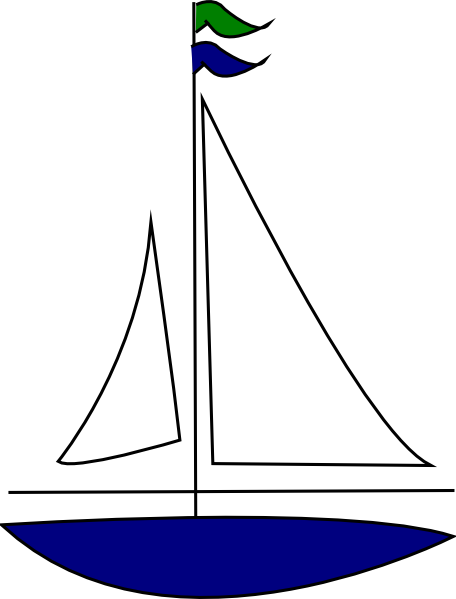 Sailboat sailing clipart dromggd top